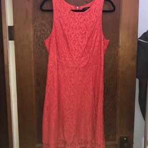 Coral business dress